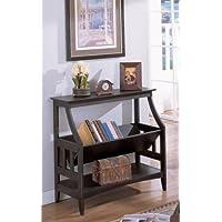 Antique Finish Bookshelf/ Magazine Table