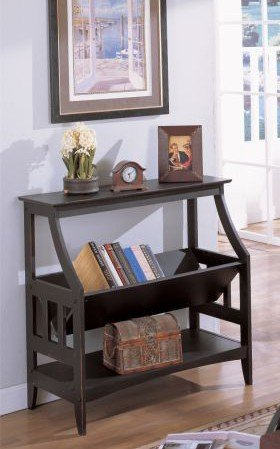 Superbe Antique Finish Bookshelf/ Magazine Table