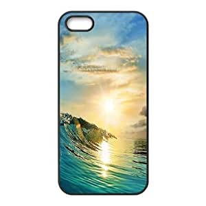 Personalized Ocean Wave Surfer Sunset Iphone 5,5S Phone Case, Ocean Wave Surfer Sunset Custom Durable Back Phone Case for iPhone 5,iPhone 5s at Lzzcase BY supermalls
