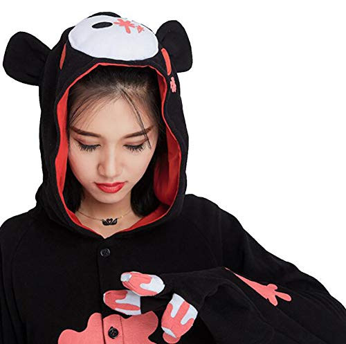 Costumi Notte Black Da HSTV Cosplay Onesies Orso Pigiama Black XL Biancheria Animale Kigurumi zSqY4wz