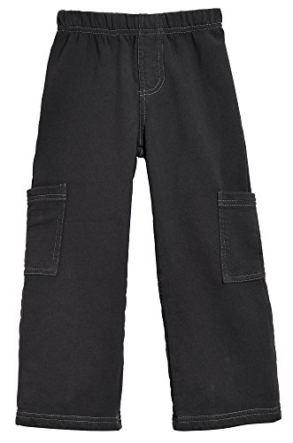 City Threads Boys Fleece Cargo Pants Perfect for School and Outdoor Play Made in USA