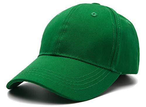 Edoneery Unisex Toddler Kids Plain Cotton Adjustable Low Profile Baseball Cap Hat(A1009) (Green)