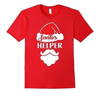 Santa's Helper T-Shirt Funny Christmas Holiday Elf Tee