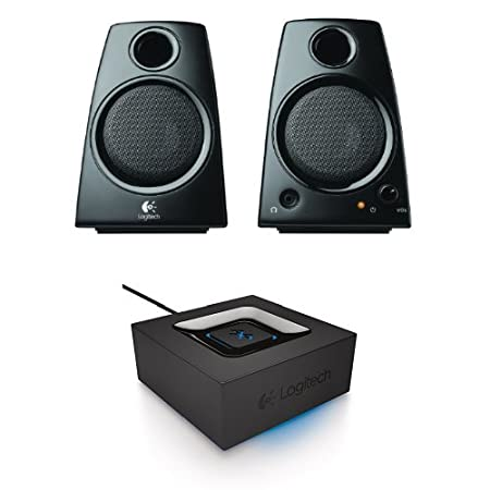 Logitech 3.5mm Jack Compact Laptop Speakers, Black (Z130) Inc 980-000417