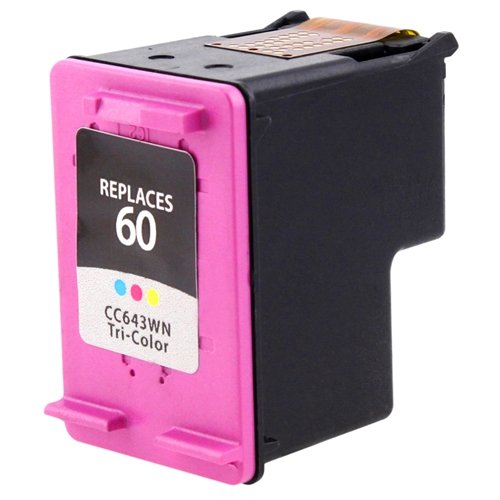eForCity Remanufactured Color Ink Cartridge for HP 60 / CC643WN, Office Central