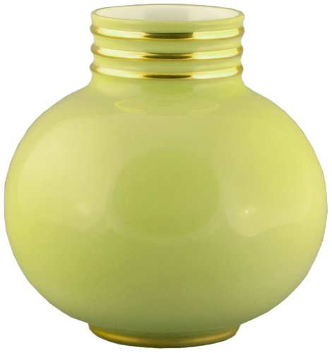 Maison Alma AR108CG Arienne Collection Decorative Vase, Small, Celery Limoges Porcelain with 24 Karat Gold Accents