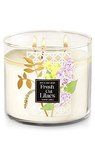 Bath & Body Works Candle 3 Wick 14.5 Ounce 2017 Fresh Cut Lilacs
