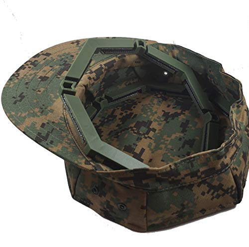 USMC and NAVY Adjustable Military Patrol Cap 8 Point Cover Shaper Insert Digital