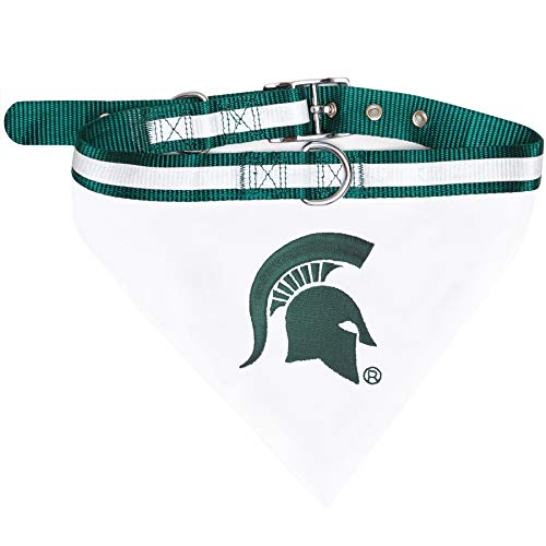 Pets First Collegiate Pet Accessories, Collar Bandana, Michigan State Spartans, Small ()