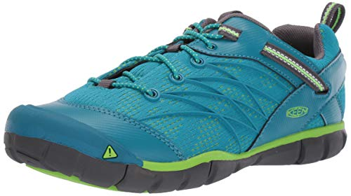 KEEN Unisex Chandler CNX Hiking Shoe, Tahitian Tide/Bright Green, 12 M US Little Kid