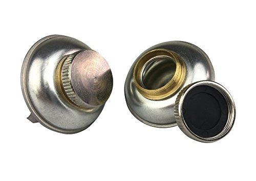 Paleta de viaje pequeña de acero inoxidable con tapa de rosca y clip, con pequeña apertura para reducir derrames, tapa...