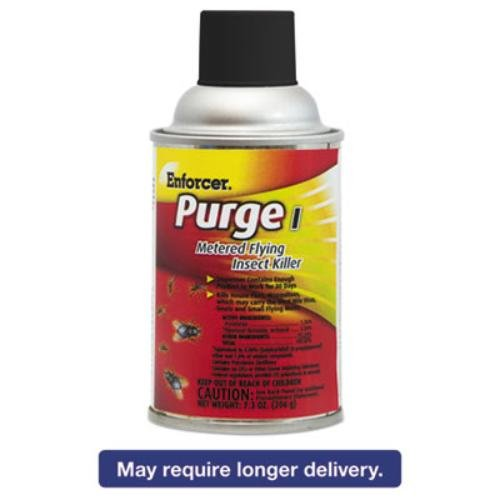 Enforcer 1047728 Purge I Metered Flying Insect Killer, Unscented, 7.3 oz Capacity Aerosol, 7.13'' Height, 8.5'' width (Pack of 12) by Enforcer