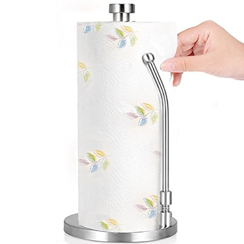 Vintage Holder Toilet Chrome Paper (Stainless Steel Paper Towel Holder Stand-up Kitchen Tissue Stand Roll Contemporary Paper Towel Hold)