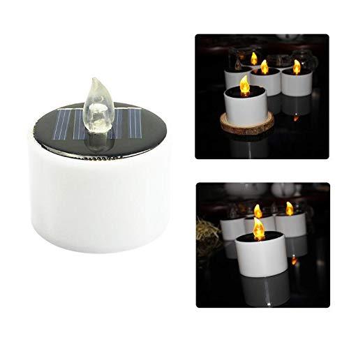 Value-Home-Tools - 6pcs Solar Power LED Candle Lights Tea Light Candles Home Decoartion Lighting Christmas Halloween Wedding Decoration Lamp (Halloween Decoartions)