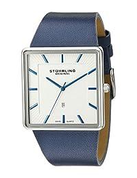 Stuhrling Original Men's Classic Saratoga Swiss Quartz Date Watch Silver 342.3315C2