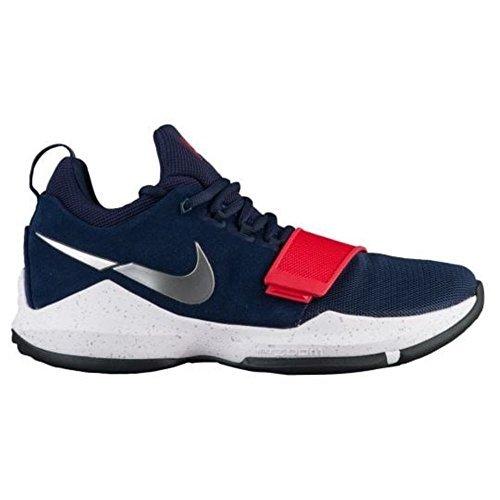Nike Men s PG 1 Paul George Basketball Shoes Navy Blue Red (10.5) ec88313c2