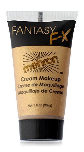 Mehron Gold Fantasy FX Make Up Kit, 1 oz - No Face Costume Face Paint