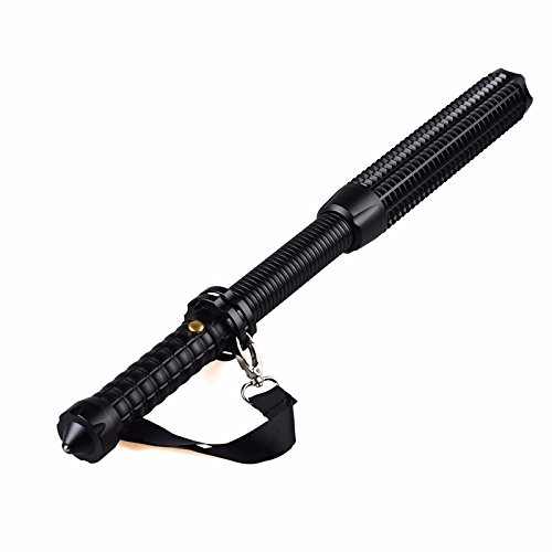 Tactical Elite Heavy Duty Outdoor Survival Expandable Retractable Adjustable Telescopic Rechargeable Baton Long Range Bright LED Combo Window Breaking Flashlight (Usb Charger and Battery Set Included) by JD Secure (Image #7)