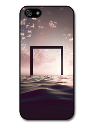 Trippy Square Over Ocean Hipster Style Design case for iPhone 5 5S