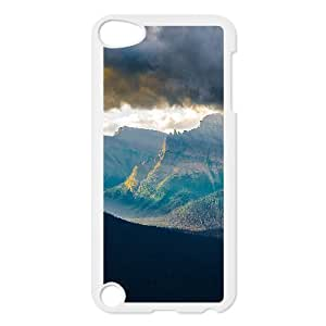 For Ipod Touch 4 Phone Case Cover Nature Mountains Cloudy Skyscape Hard Shell Back White For Ipod Touch 4 Phone Case Cover 300928