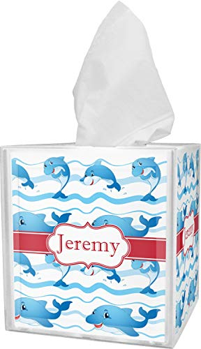 (RNK Shops Dolphins Tissue Box Cover (Personalized))
