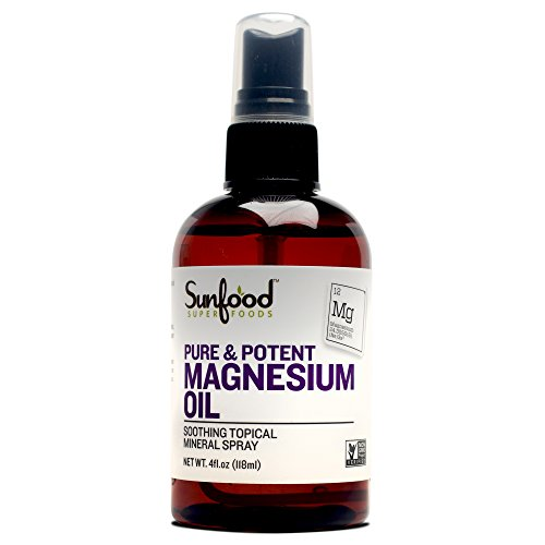 Sunfood Superfoods Pure Magnesium Oil Spray Bottle- 4 fl oz