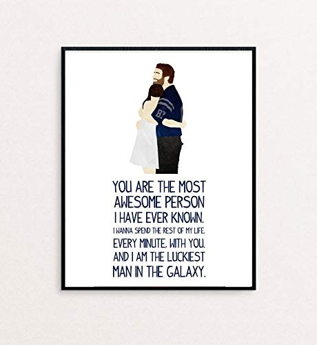 Andy Dwyer and April Ludgate Wedding Vows You are The Most Awesome Movies Poster Gifts for Fan Poster Home Art Wall Posters [No Framed]