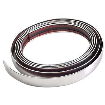 CARCHET® - Perfil cromado adhesivo para interior o exterior de coche, 3 m x 21 mm: Amazon.es: Coche y moto