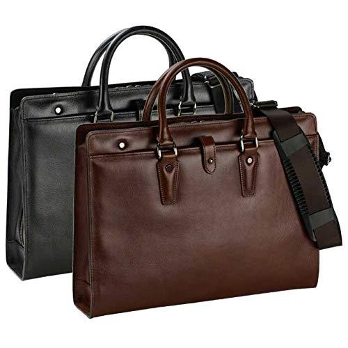 ビジネスバッグ メンズ 本革 日本製 豊岡製鞄 国産 A4 2way ショルダー付き B07QRGQD79 チョコ