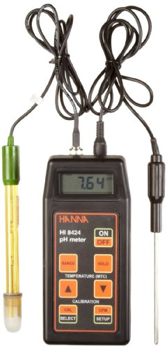 Hanna Instruments Hi 8424 Waterproof Portable Ph Meter With Atc And