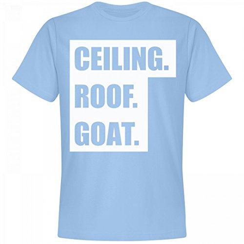 Ceiling Roof (Ceiling Roof Goat North Carolina Blue: Unisex Next Level Premium T-Shirt)
