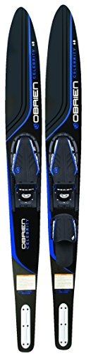 O'Brien Celebrity Combo Water Skis with x-7 Bindings, Blue, 68""