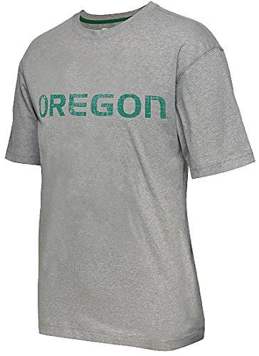 (Oregon Ducks Mens Grey Colossal Short Sleeve T Shirt by Colosseum)