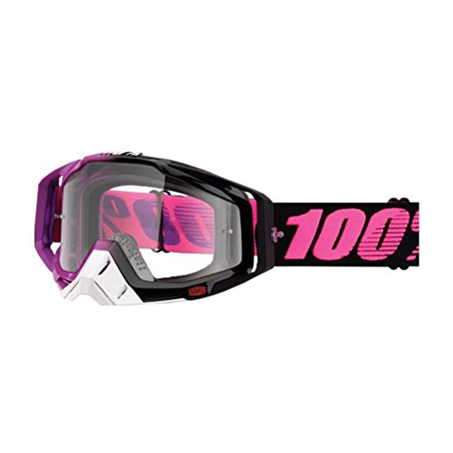 100% unisex-adult Goggle (Purple/Clear,One Size) (RACECRAFT RC HARIBO Clear - Percent 100 Sunglasses