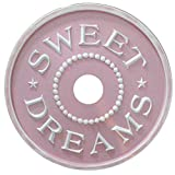 Painted DIY Sweet Dreams Ceiling Medallion (Pink)