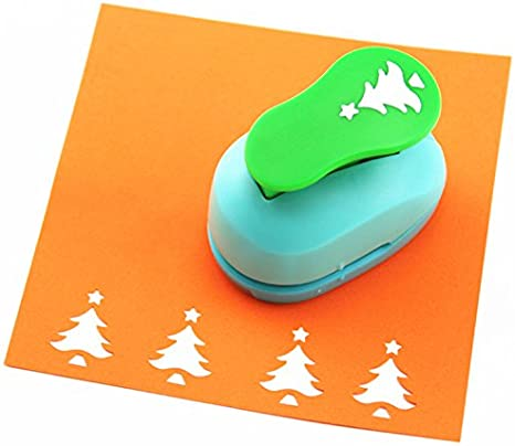 Christmas Punch Bira 3 inch Fir Tree Lever Action Craft Punch for Paper Crafting Scrapbooking Cards Arts DIY Project Christmas Tree