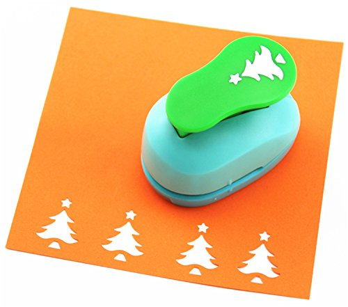 CADY Crafts Punch 2.5 cm Paper Punches Paper Punch Flower (Christmas Tree)