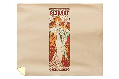 champagne-ruinart-vintage-poster-artist-mucha-alphonse-france-c-1896-88x104-king-microfiber-duvet-co
