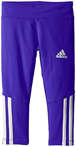 adidas Little Girls' Performance Tight Legging, Dark Purple, (Adidas Gym Clothes)