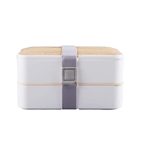 Fiambrera rectangular doble aislante para microondas con ...