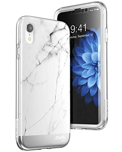 SUPCASE Unicorn Beetle Stella Series Case Designed for iPhone XR with Built-in Screen Protect Premium Hybrid Shinning Glitter Bling Protective(Marble)
