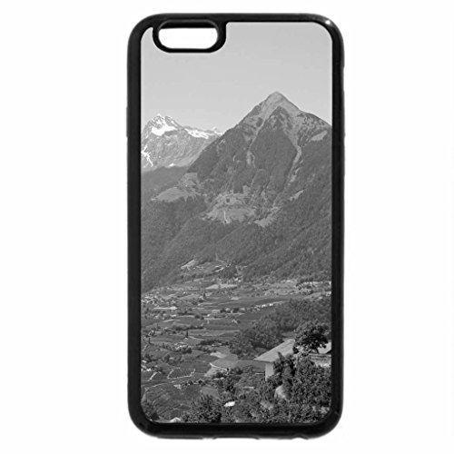 iPhone 6S Plus Case, iPhone 6 Plus Case (Black & White) - wonderful villages in the italian southern tyrol