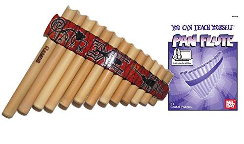 Beginners Set Bamboo Tunable Pan Flute + Case + Guide Boo...