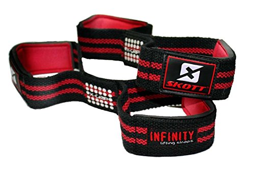 Figure 8 Weight Lifting Straps – Best Powerlifting Bodybuilding Accessories For Heavy Workout Wrist Support – Improves Gripping Strength Dramatically – One Size Fits All (2 pack)