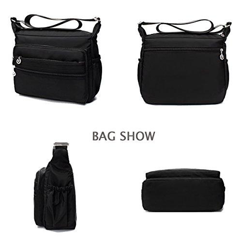 Blue Light Dark Messenger Shoulder weight Purse Crossbody Bags Nylon Handbag zORvqzPw
