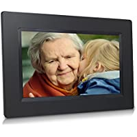 Sungale 7 Inch WiFi Cloud Digital Photo Frame with Touch Panel, Free Cloud Storage, High-Resolution 1024x600 IPS Screen (Black)
