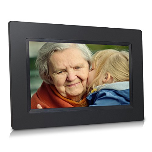 Sungale 7 Inch WiFi Cloud Digital Photo Frame with Touch Panel, Free Cloud Storage, High-Resolution 1024×600 IPS Screen (Black)
