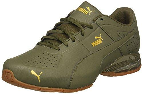 Green Stripe Sneakers - 8