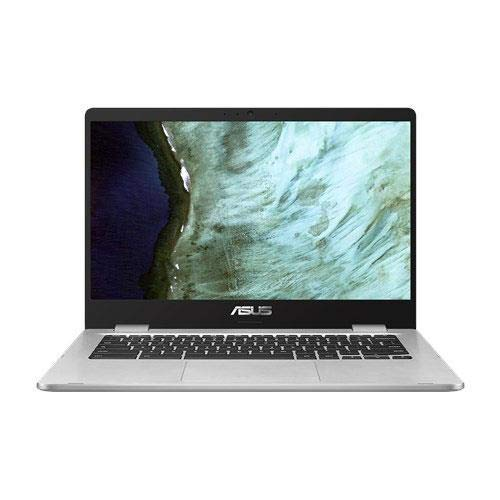"ASUS Chromebook C423NA-DH02 14.0"" HD NanoEdge display with 180 Degree hinge Intel Dual Core Celeron Processor, 4GB RAM, 32GB eMMC storage, silver color"