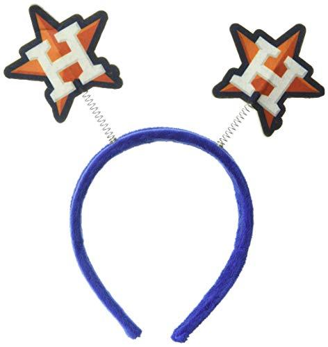 FOCO MLB Houston Astros Mens Springy Ears HeadbandSpringy Ears Headband, Team Color, One Size ()